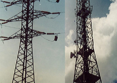 Pylons and communication antennas