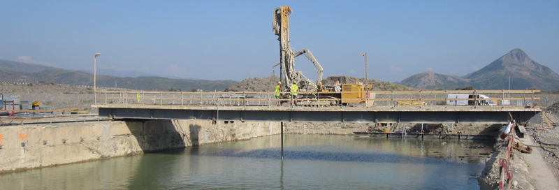 Hydropower bridge for drilling (HEC Ashta 1)